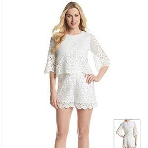 c2a23dac9309 Muse Pants - MUSE white lace romper playsuit jumpsuit